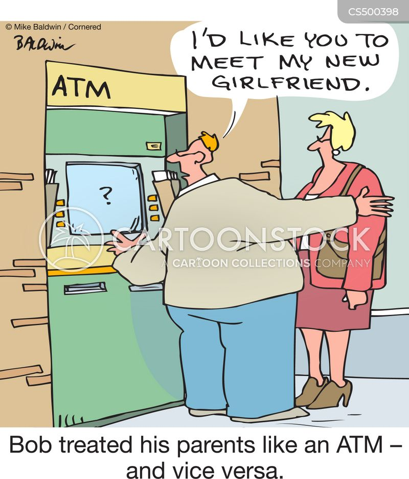 cash dispenser cartoon