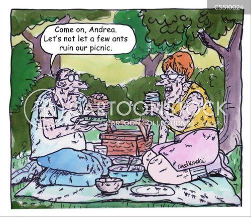 romantic picnic cartoon