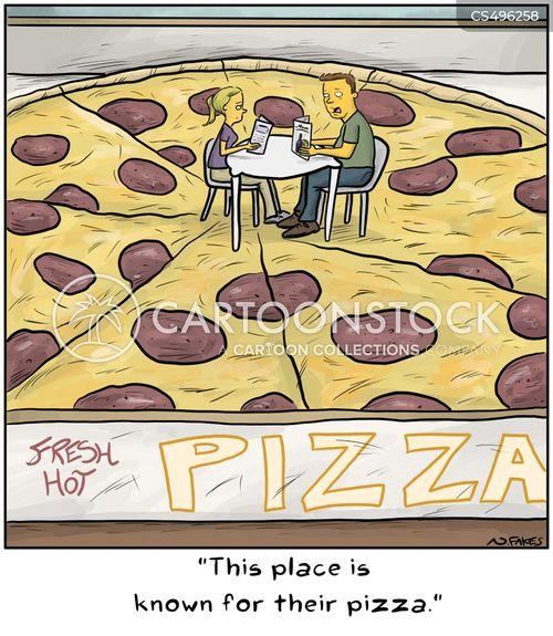 pepperoni pizzas cartoon