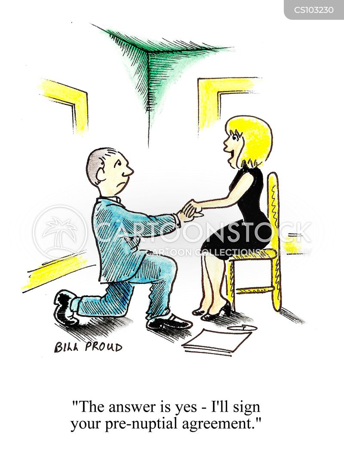 nuptials cartoon