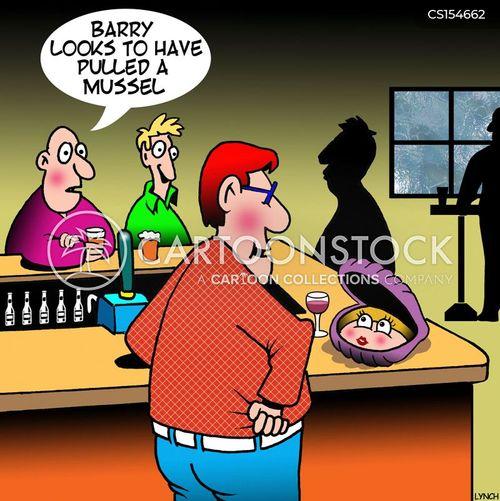 ladies night cartoon
