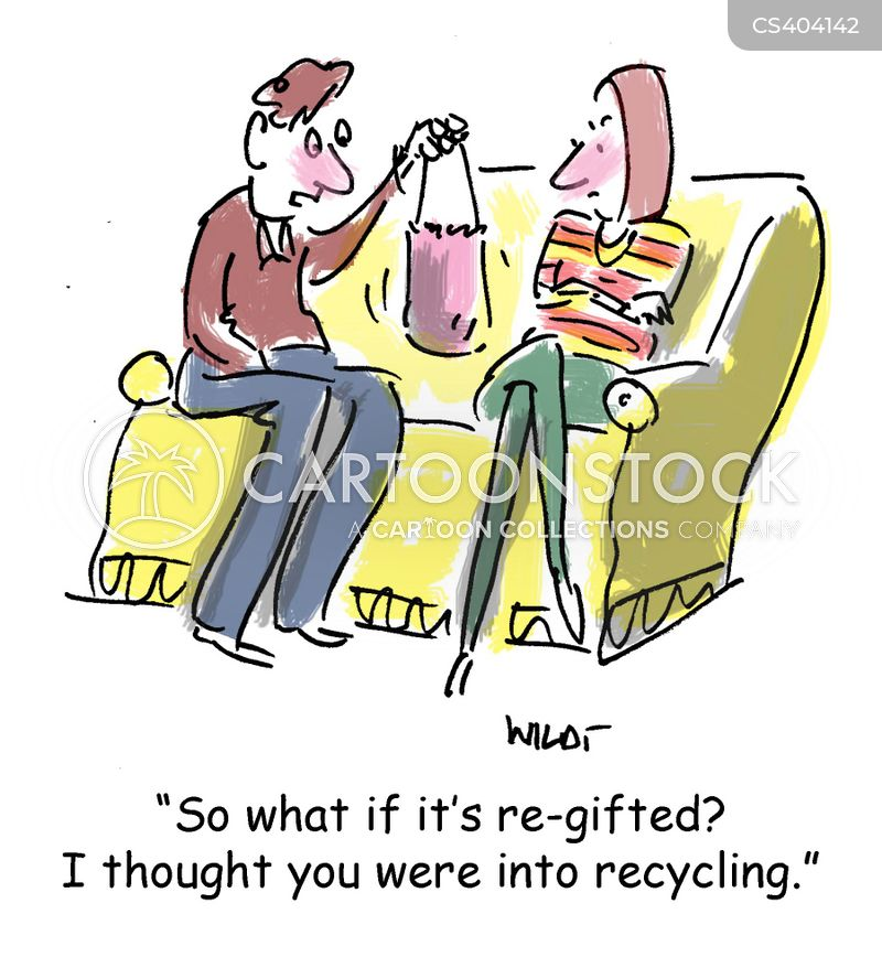 re-gift cartoon