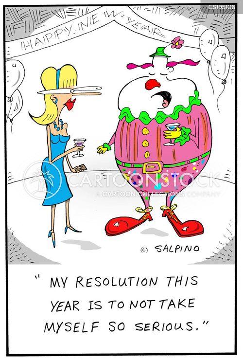self-seriousness cartoon