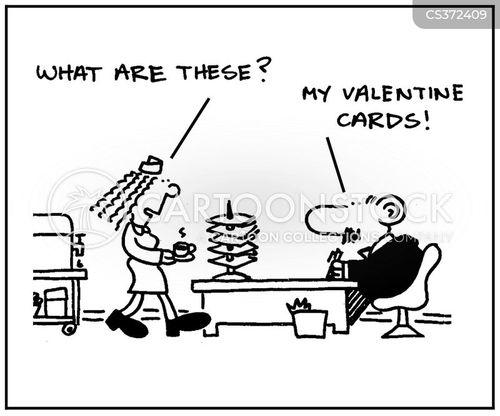 valentines day card cartoon