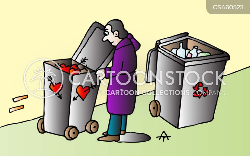 broken hearts cartoon