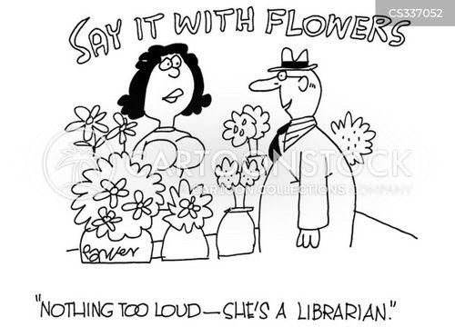 buying flowers cartoon