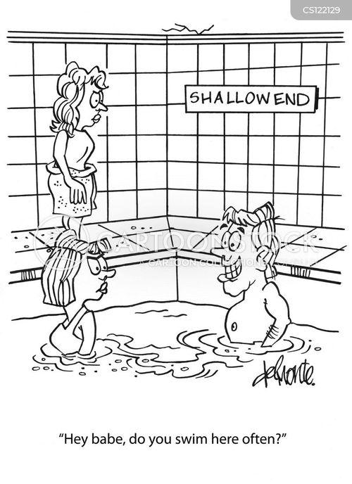 shallow end cartoon
