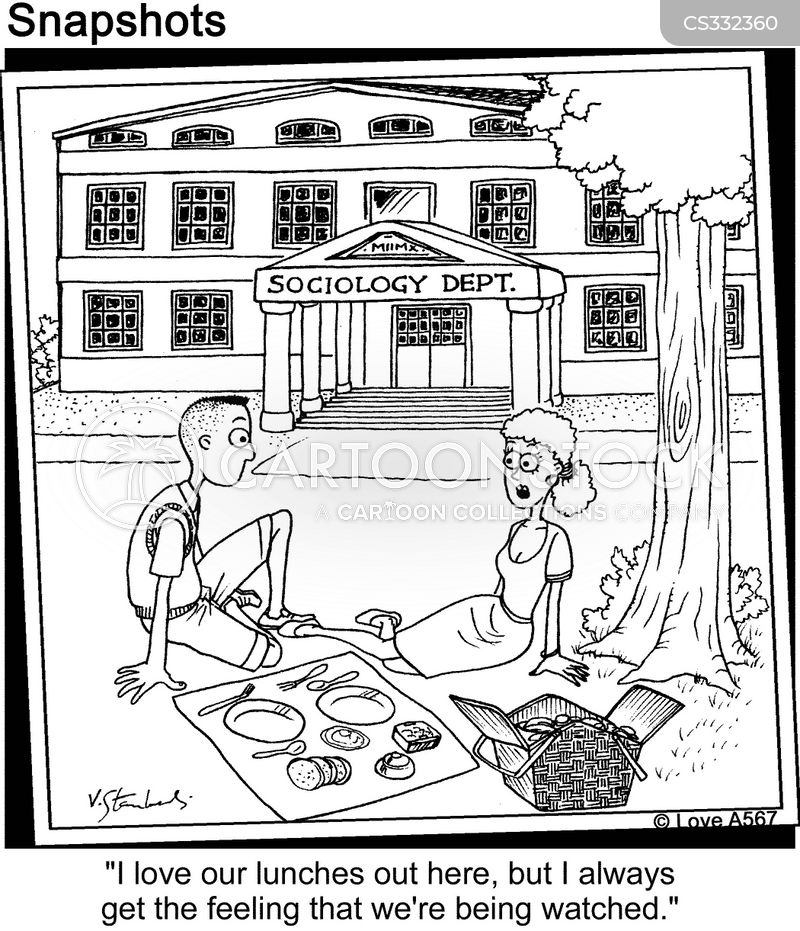 eating lunch cartoon
