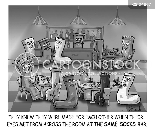 matching socks cartoon
