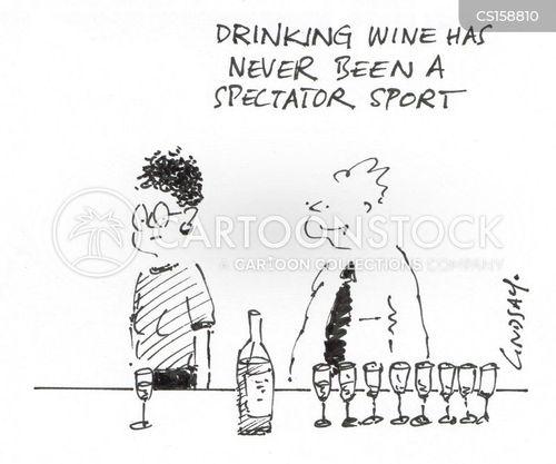 wine tastings cartoon