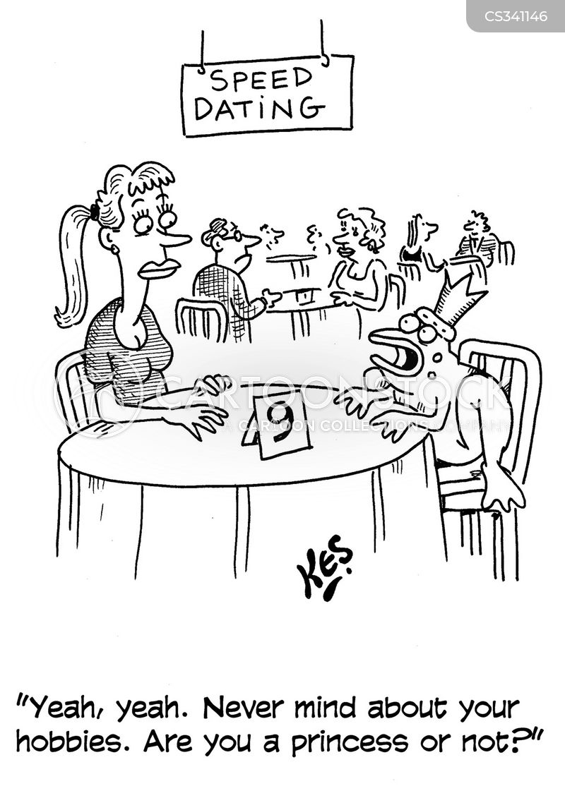 speed dating cartoon