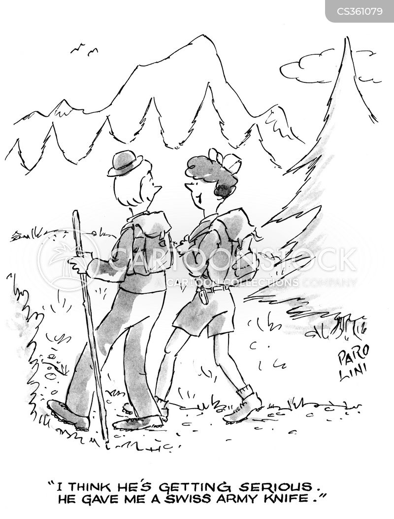 swiss army cartoon