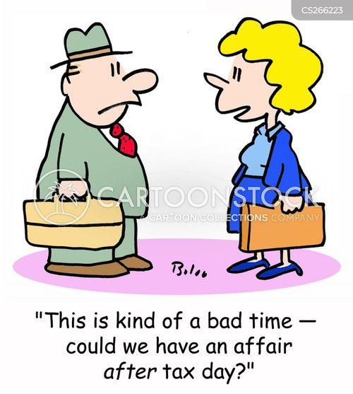 tax day cartoon