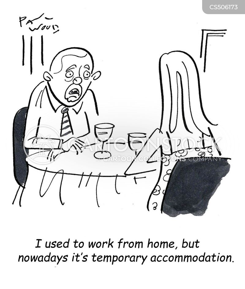 temporary accommodation cartoon