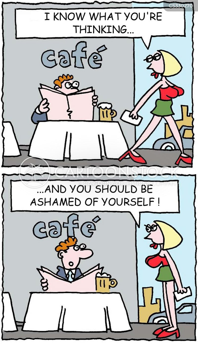 be ashamed cartoon