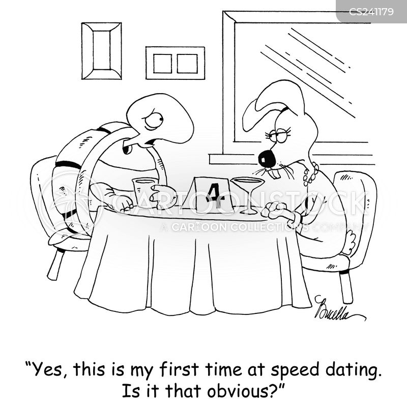 speed dates cartoon