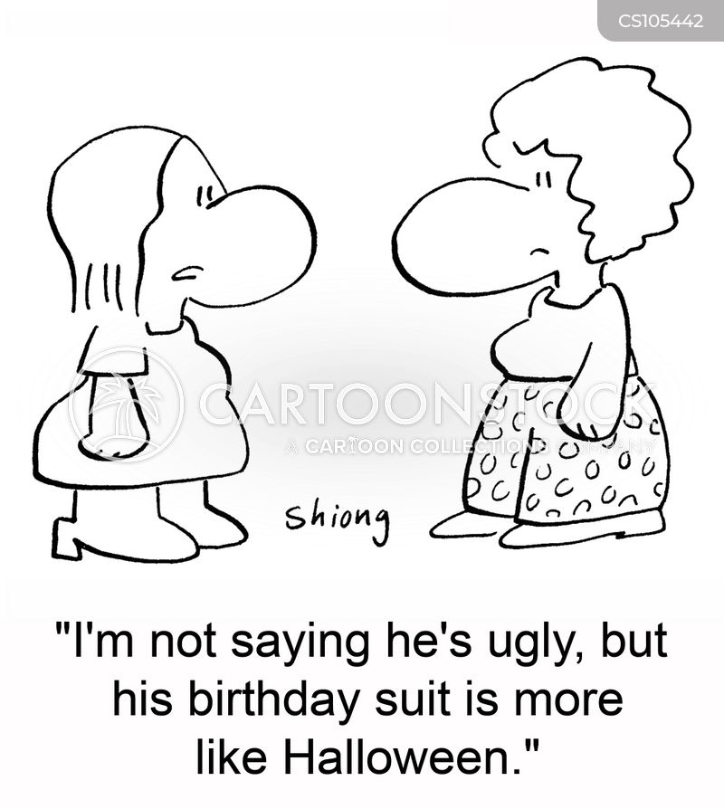 birthday suits cartoon