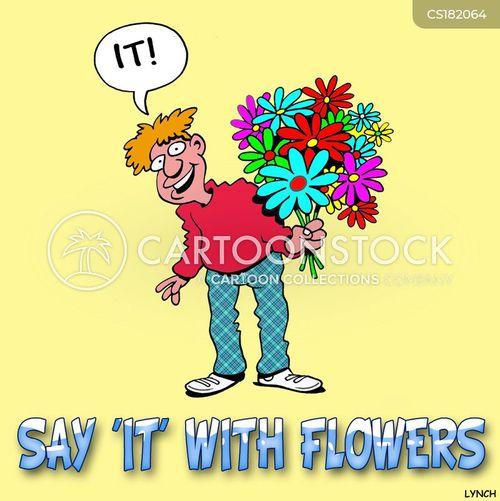 romantic gesture cartoon