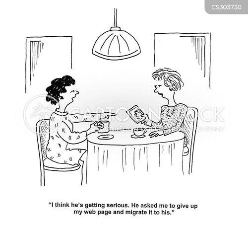 webpages cartoon