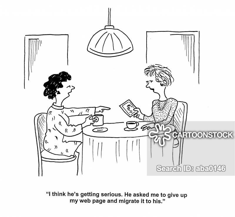 web pages cartoon