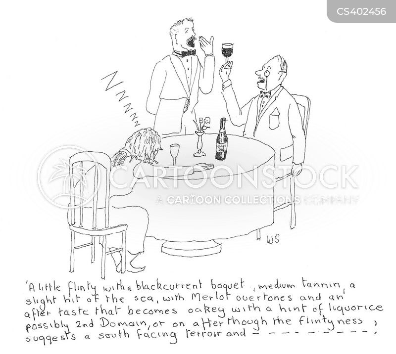 wine bores cartoon