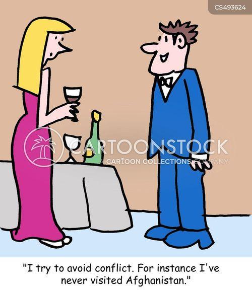 avoiding conflict cartoon