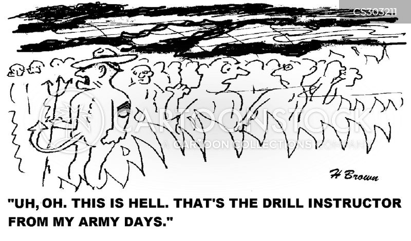 drill instructors cartoon