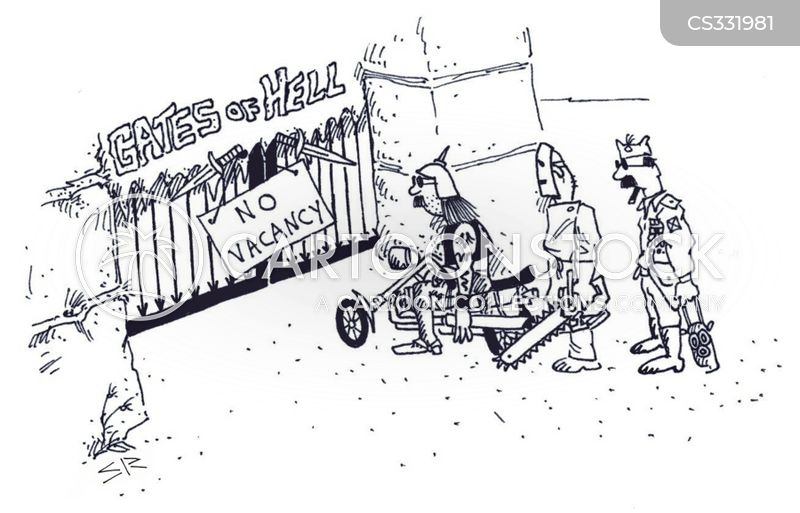 gates of hell cartoon