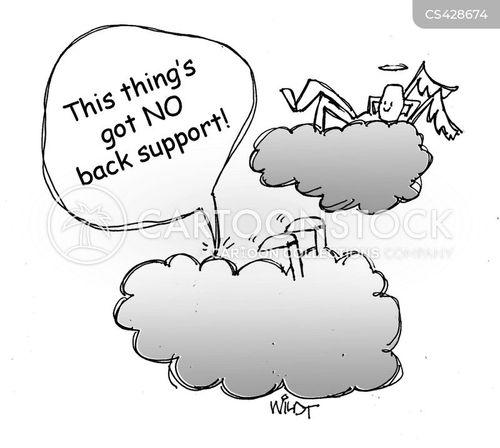back support cartoon
