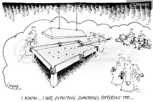 pool hall cartoon