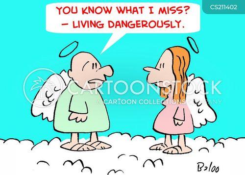 living dangerously cartoon