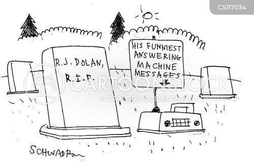 answering machine message cartoon
