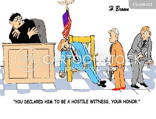 hostile witnesses cartoon