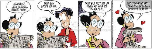 passing away cartoon