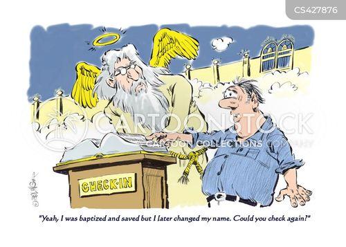 baptised cartoon