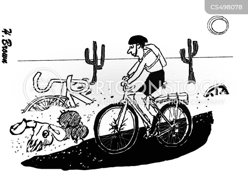 cycling holiday cartoon