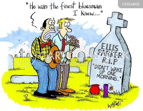 blues musicians cartoon