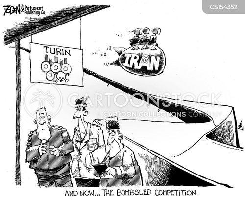 bobsled cartoon