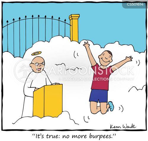fitness program cartoon