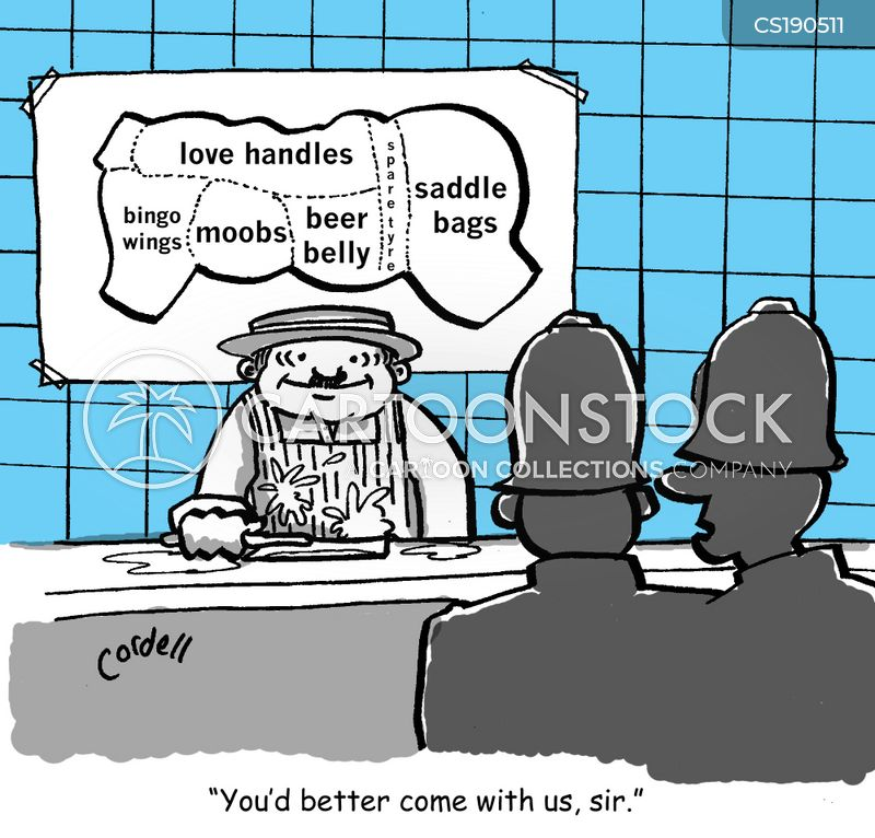 love handles cartoon