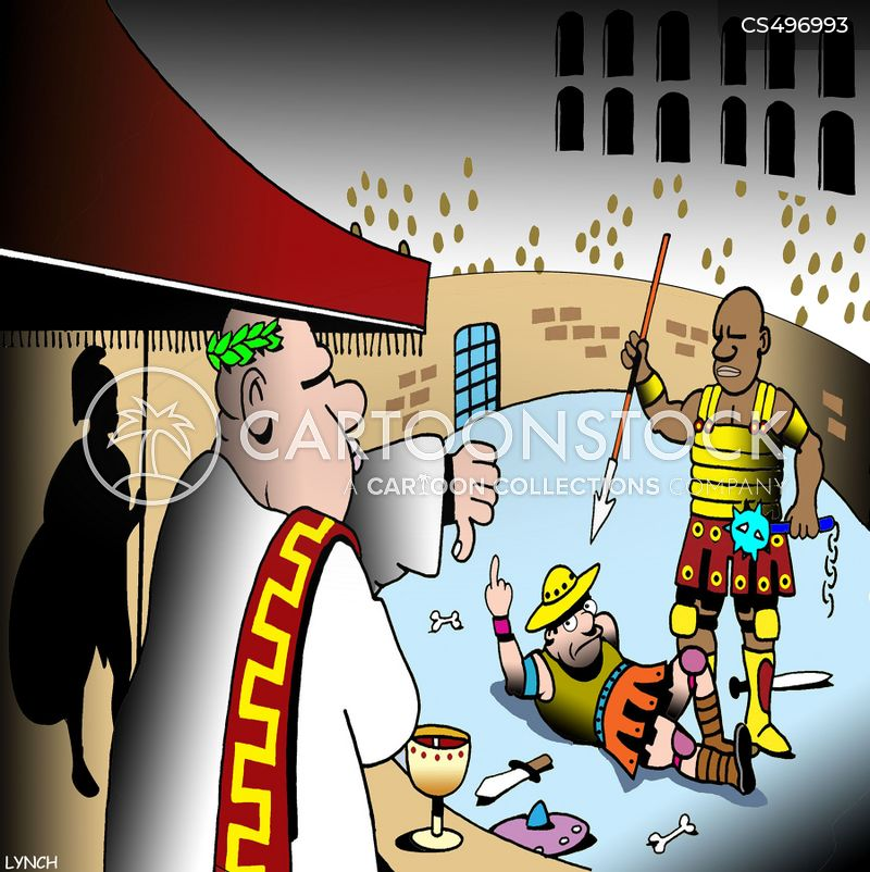 gladiatorial games cartoon