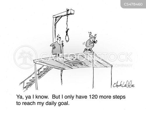 fitness tracking cartoon