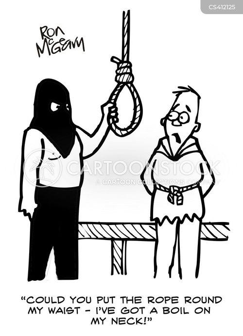 hanging ropes cartoon
