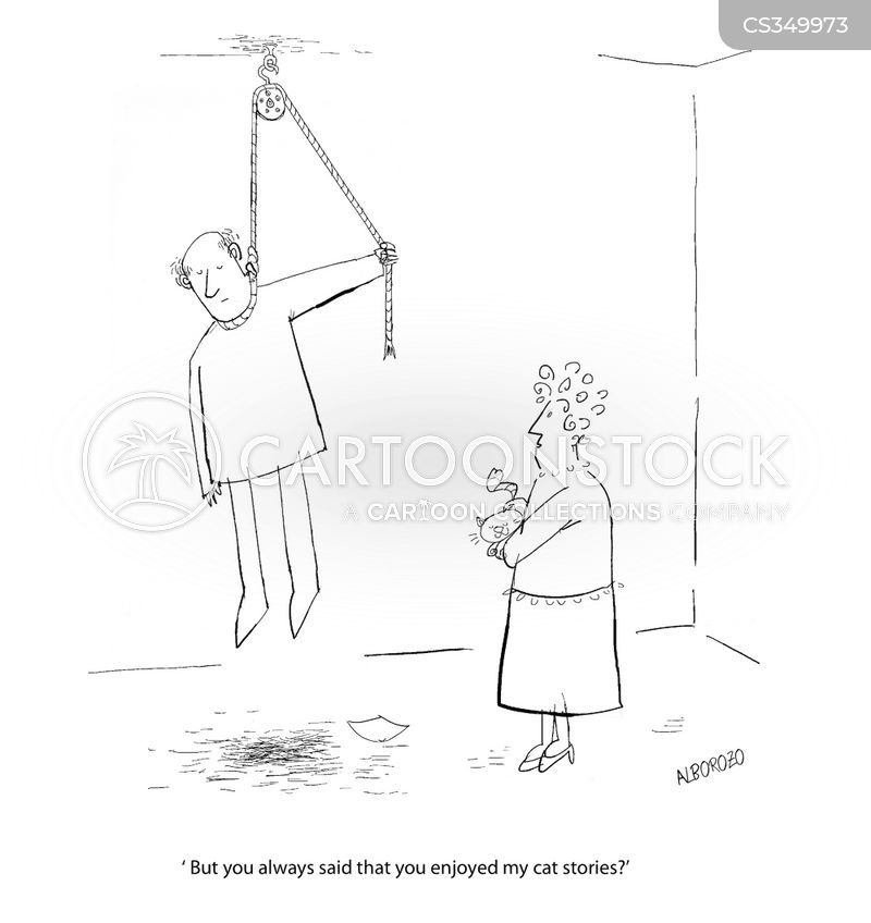 hang yourself cartoon