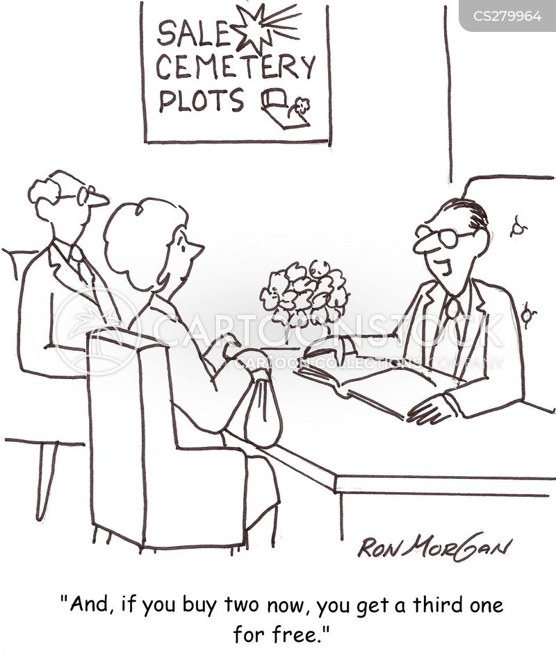 funeral parlour cartoon
