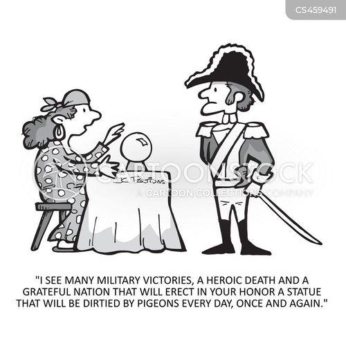 military hero cartoon