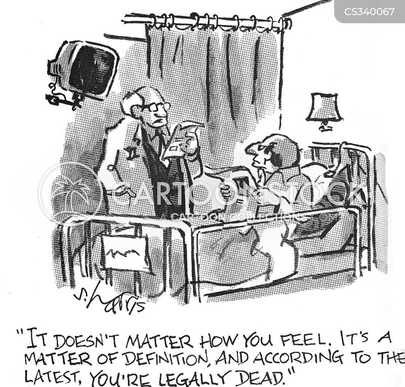 clinically dead cartoon