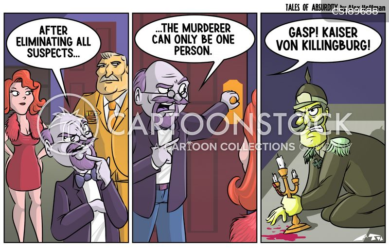 murder mystery cartoon