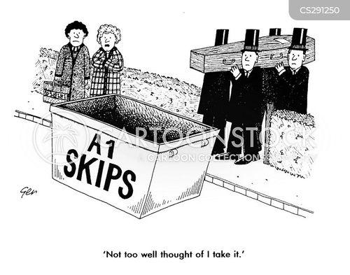 coffin bearer cartoon
