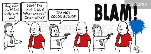 colour-blindness cartoon